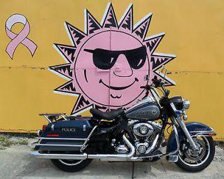 2011 Harley Davidson Road King Blue and Gray Police Bike FLHR #18