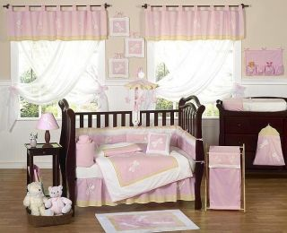 CHEAP PINK DRAGONFLY 9pc BABY GIRL CRIB BEDDING SET ROOM COLLECTION