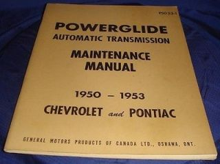 1953 Chevrolet & Pontiac Powerglide Transmission Maintenance Manual