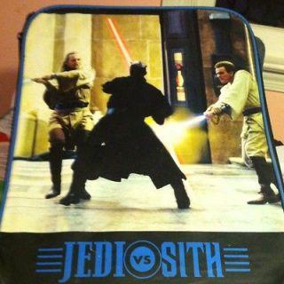 Vintage Star Wars Rolling Luggage Backpack Overnight Case Bag Jedi vs