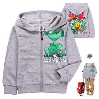 2012 New Baby Boys Girls Plants vs. Zombies Hoodies Sweatshirts 2 8