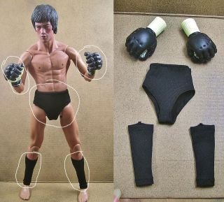 Bruce Lee Enter the Dragon Boxing Gloves Gear DX Hot Bane Thor Toys