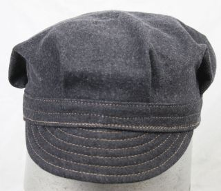 VINTAGE STYLE WORKWEAR RAILROAD ENGINEER CAP HAT ZASU CAPS size 7 1/2