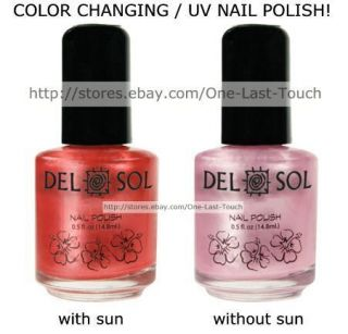 Del Sol UV SUN Color Changing Nail Polish FIRST KISS