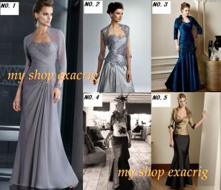 New Women Formal Outfits Mother of the Bride Dress Free Jacket/Coat