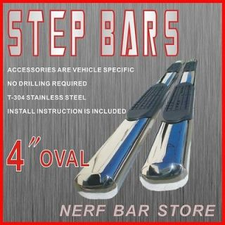Tundra Double Cab 4OVAL Nerf Bars Side Steps Running boards SS 2012