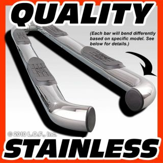 Nerf Bars Side Step Running Board Stainless Steel 2001 2007 FORD