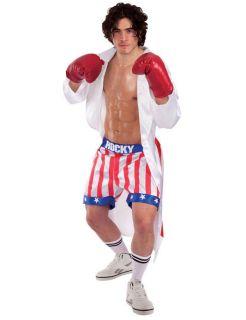 ... Rocky Balboa Film Icon Sports Movie Character Star Fancy Dress Costume ...  sc 1 st  PopScreen & Rocky Balboa Italian Stallion Boxing Costume Robe with Shorts