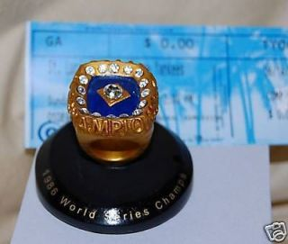 1986 New York Mets World Series Champions Replica Desktop Ring SGA
