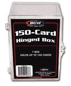 150 Count Hinged Clear Plastic Baseball Trading Card Protector Boxes