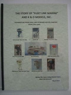 of Fleet Line Marine and K & O Models   Toy Boats & Outboard Motors