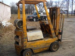 TOYOTA Forklift 1550 lbs cap 102 lift w/ Forks Propane Cushion Tires