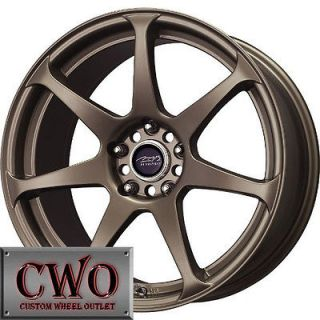 18 Bronze MB Battle Wheels Rims 5x114.3 5 Lug Mustang 350Z G35 Crown