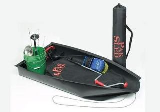 Newly listed Pak Sled Ice Fishing Portable Roll Up Gear Slide New