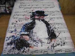 jackson MJ Classic Billie Jean Bed sheet Blanket 59.05in X 78.74in Set
