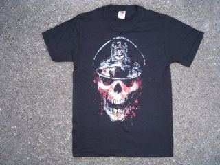 SLAYER T   SHIRT ( BLOODY SKULL / SLAYER LOGO ARMY HAT ) PRINTED