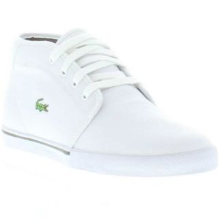 Lacoste Shoes Genuine Ampthill TL Spm Leather Mens Shoes White Size UK