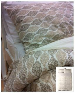 Ikea Ransby Quilt Duvet Cover, Satin, 300TC, Full Queen, Beige Brown