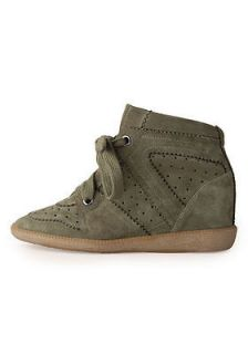 ISABEL MARANT Bobby KAKI LOW TOP SNEAKER Sz 38 SOLD OUT EVERYWHERE