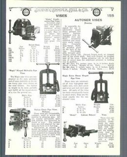 1928 ad Penn Prentiss Table Clamp Bench Vises Blake Autoser