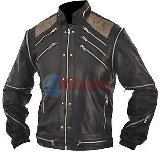 Michael Jackson Beat It Vintage Replica Black Original Leather Jacket