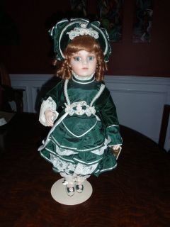 FRANKLIN HEIRLOOM PORCELAIN DOLL ANTIQUE REPRODUCTION VICTORIAN