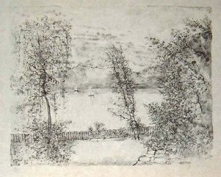 Bernard Gantner Landscape #123 Lithograph S/N