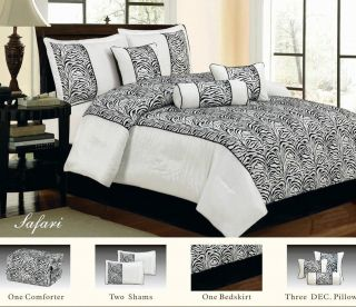 king size animal print bed in a bag