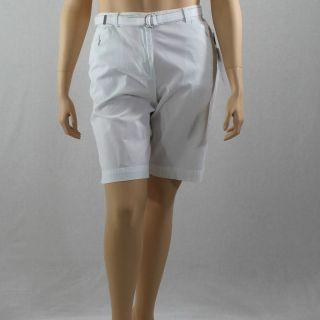 Black & White Gingham Walking Shorts sz 16 XL New Bermuda Flat Front
