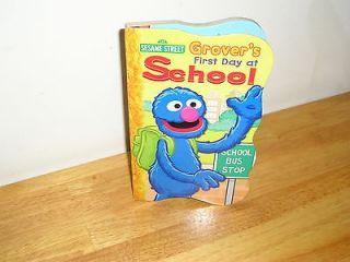 Story Books. Grovers First Day of School. Elmo, Bert, Ernie, NEW