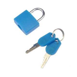 Mini Fashion Style Best Security Blue Padlock With 2 keys
