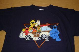 SESAME STREET Cookie Monster Bert Ernie Big Bird MERRY CHRISTMAS Shirt