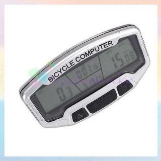 Multi function Bicycle Bike Computer Odometer Speedometer Clock