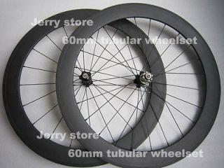 carbon wheels60mm tubular carbon bicycle parts 700C road wheelset