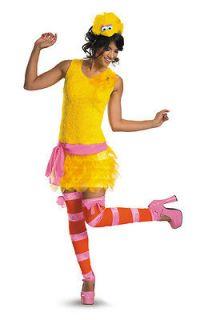 Sesame Street Big Bird Sassy Adult Costume Size8 10