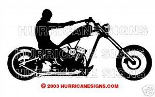 230 Rigid Rolling Harley Chopper Chassis Frame Sticker