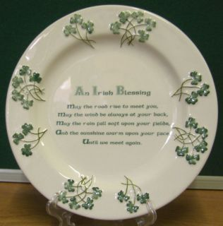 WATERVALE PARIAN CHINA DECORATIVE PLATE AN IRISH BLESSING SHAMROCK