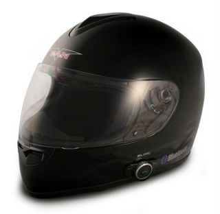 VCAN V 136B MOTORCYCLE HELMET WITH BUILT IN STEREO BLUETOOTH SYSTEM
