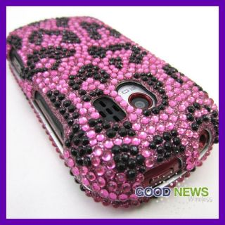 LG Extravert VN271 Pink Leopard Crystal Bling Hard Case Phone Cover