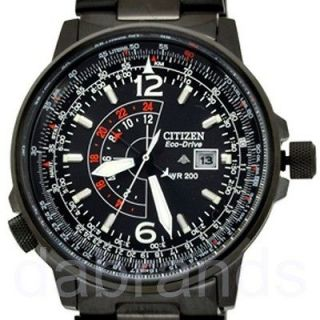 Black Promaster Eco Drive Pilot Stainless Steel Watch BJ7019 54E