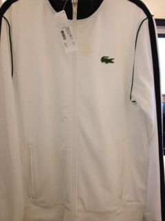 Lacoste Mens Track Jacket   Blanc/Eclipse
