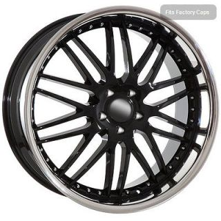 22 black rims wheels fit BMW 2009 X5 X6 mesh chrome lip Clearance Sale