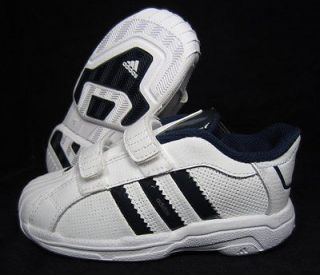 ADIDAS SUPERSTAR 2G CFI WHITE/BLACK LEATHER TODDLER BOYS/GIRLS SHOES