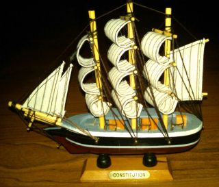COLLECTIBLE CONSTITUTION SMALL WOODEN BOAT