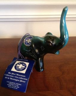 Blue Mountain Pottery Elephant Figurine NWT