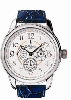Bobby Jones BJ0005 Leather Strap Navy Blue Mens Watch