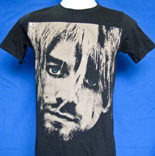 Kurt Cobain Blue Eye TShirt Vintage style Black Brown L