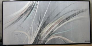 LEE REYNOLDS MID CENTURY ABSTRACT PAINTING   SLALOM RACER 40 X 50