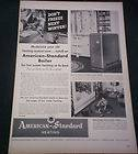 1953 American Standard PRINT AD Bathroom Sinks toilets