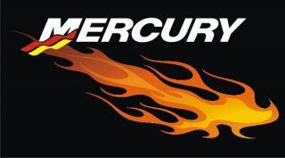 Custom Mercury Flame outboard decals graphics motor boat